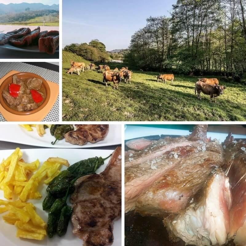 Ternera Asturiana en el restaurante del hotel Puerta del Oriente