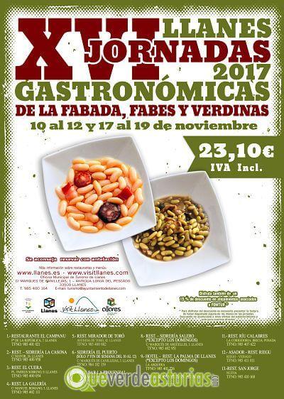 XVI Jornadas gastronómicas de la fabada, fabes y verdinas en Llanes.