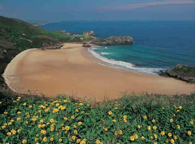 Playa de Torimbia en Niembro